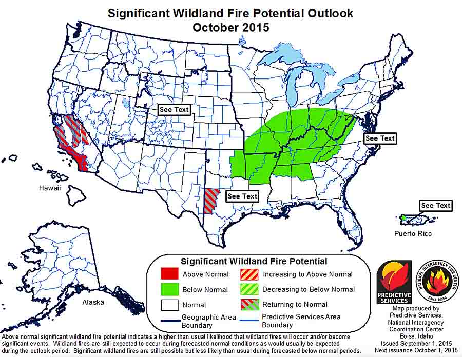 Ocdtober wildfire outlook
