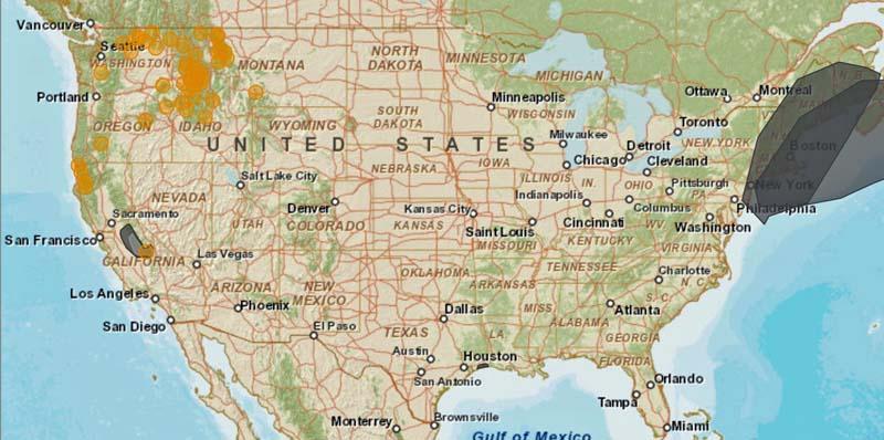 Smoke map, Sept. 6, 2015
