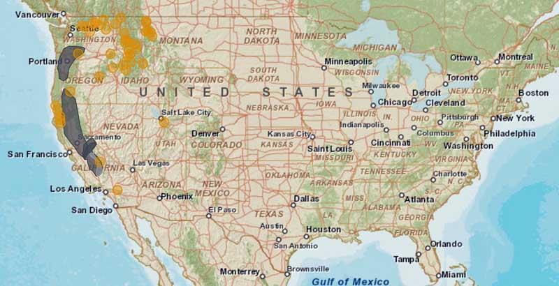 Smoke map, 9-11-2015