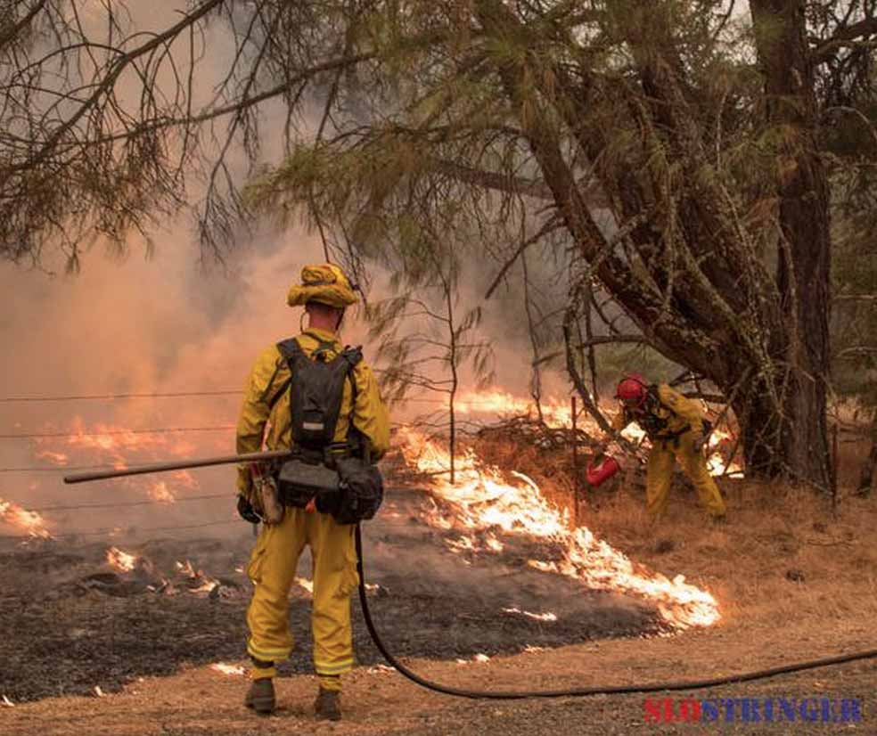 Firefighters on the Valley Fire burning out Sept. 14, 2015 near Highway 29 south of Lower Lake. Photo by SLOSTRNGER used with permission.
