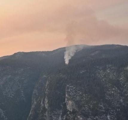 Tenaya Fire in Yosemite National Park