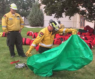 canada Fire shelter training.