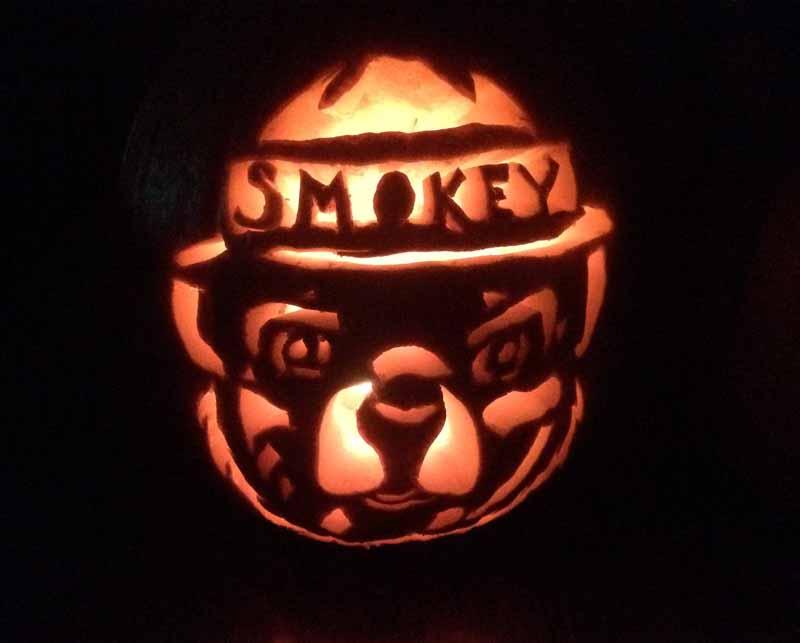 smokey bear Jack O'Lantern