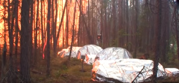 Fire Shelter Tests in Canada, June 2015.