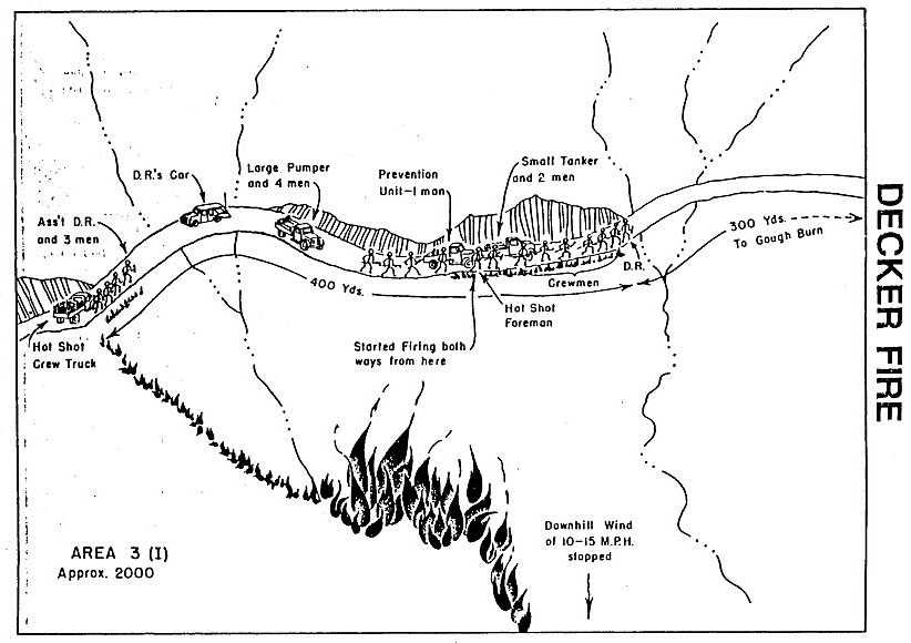 Decker Fire report map diagram
