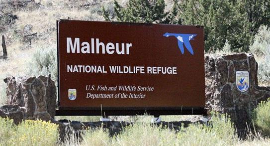 Malheur Refuge sign