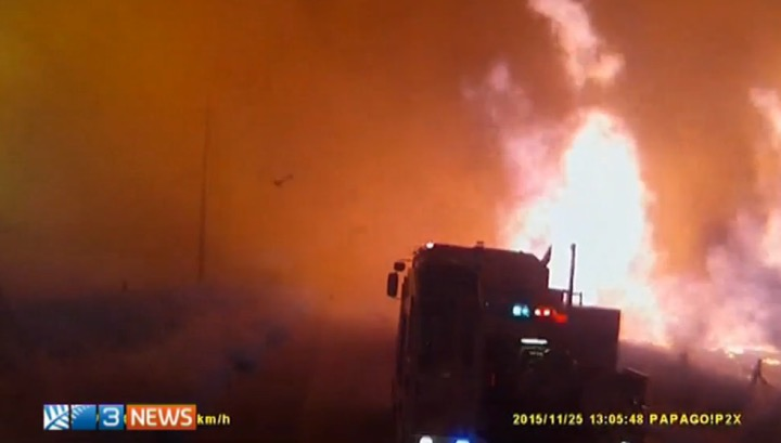 south australia near miss fire