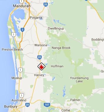 Waroona Fire emergency warning