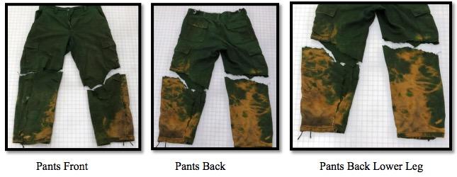damaged Nomex pants