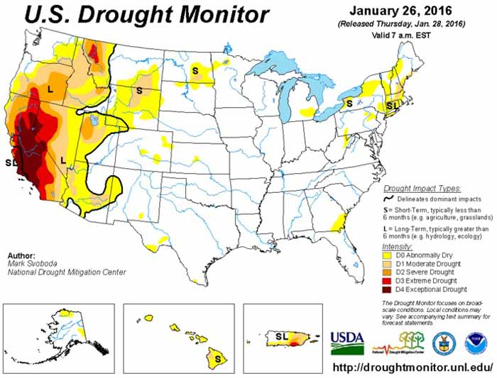 Drought Monitor 1-28-2016