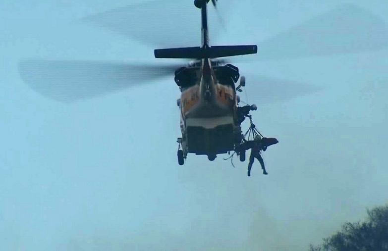 Injured inmate hoist helicopter