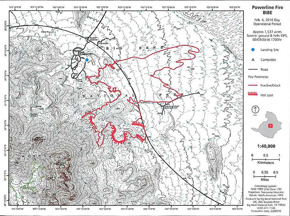 Powerline Fire map