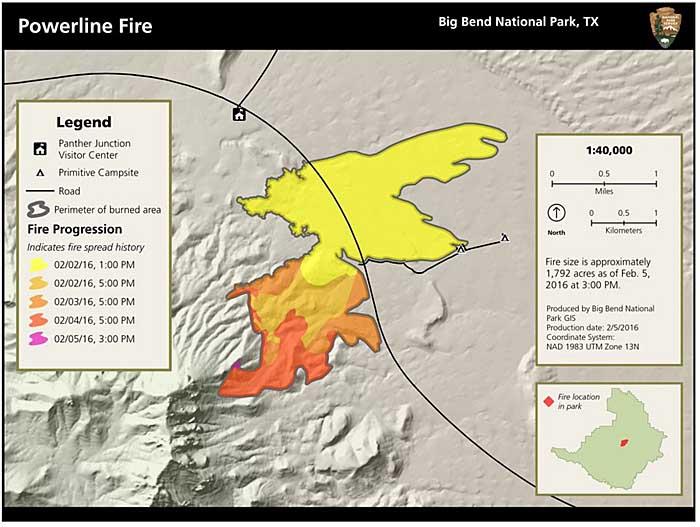 Powerline Fire burns near headquarters of Big Bend National Park