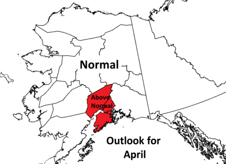 Alaska April wildfire potential