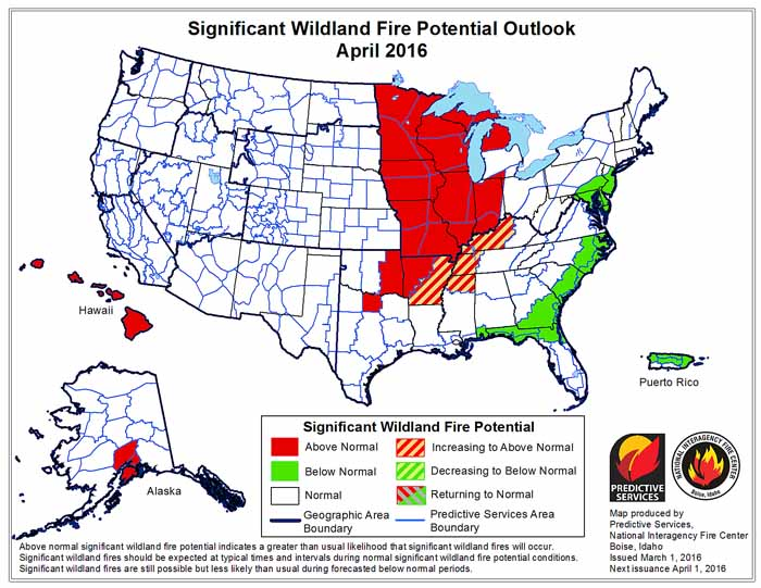 April wildfire outlook