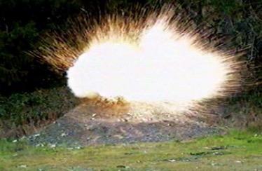 exploding target