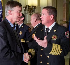 Governor Hickenlooper and Chief Mike Morgan