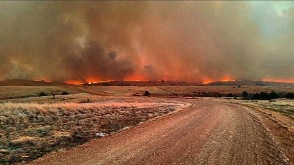 Kansas Oklahoma wildfire