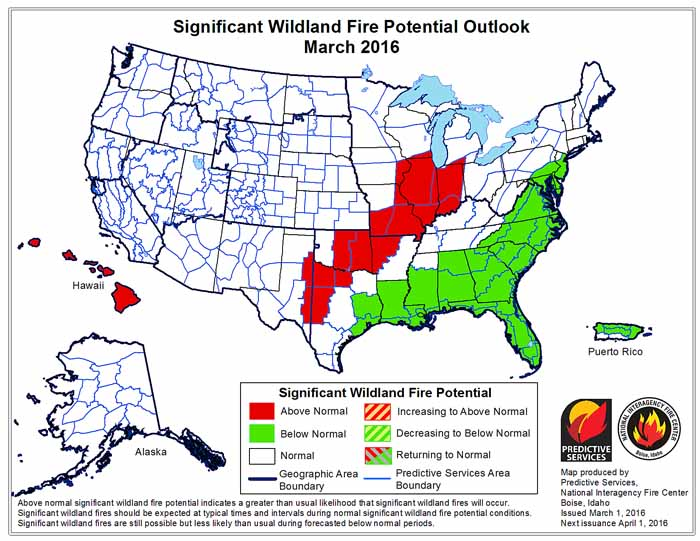 march wildfire outlook