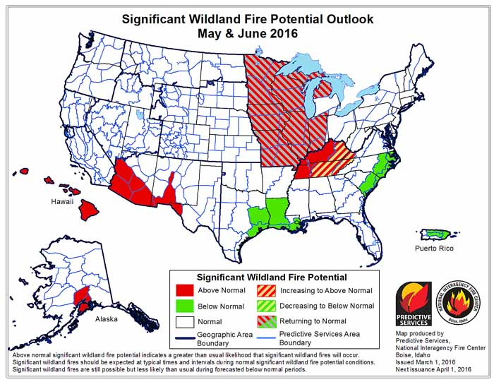 may june wildfire outlook