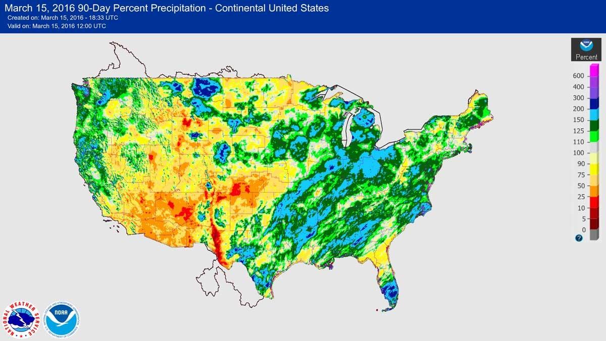 Winter weather — precursor to the 2016 wildfire season