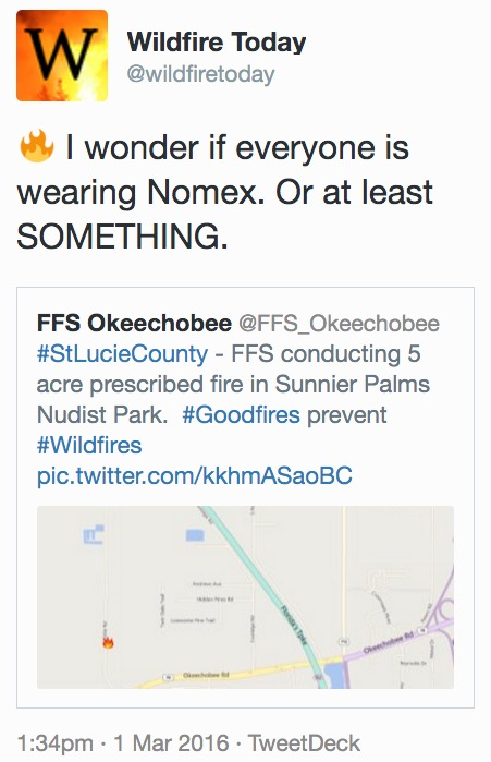 Prescribed fire by Florida Forest Service