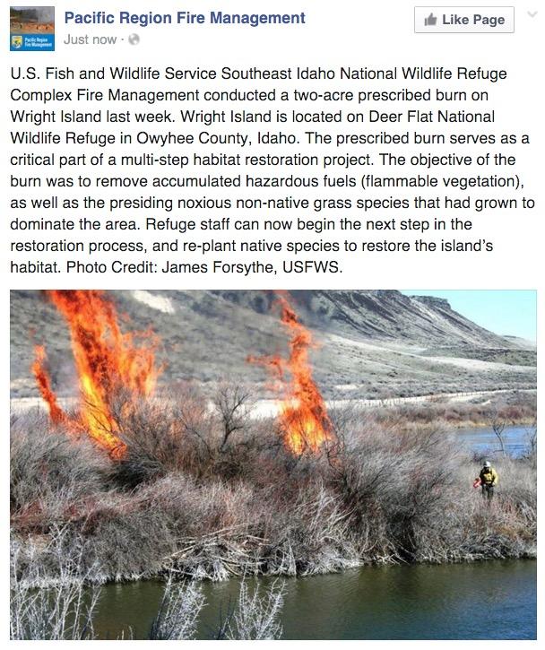 USFWS burning in Idaho