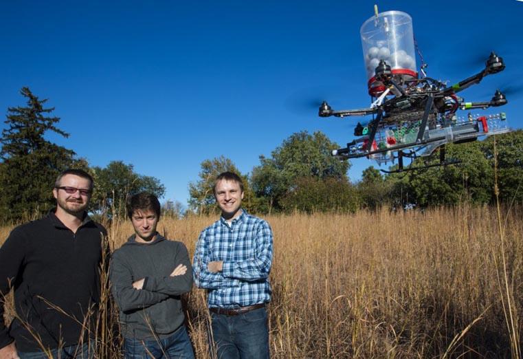 Univ of Nebraska fire start drone
