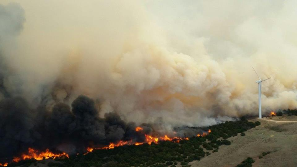 Four Oklahoma fires merge into one
