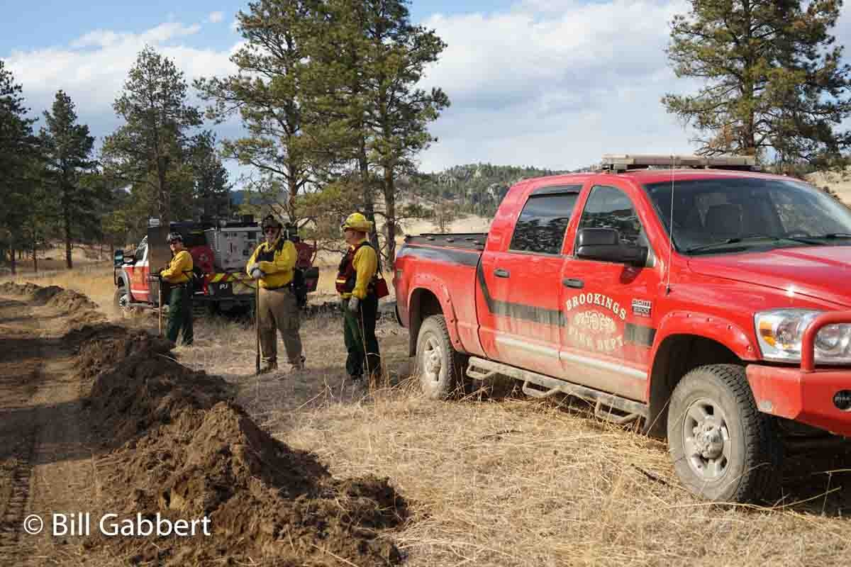 Some firefighters traveled long distances to help fight the Cold Fire