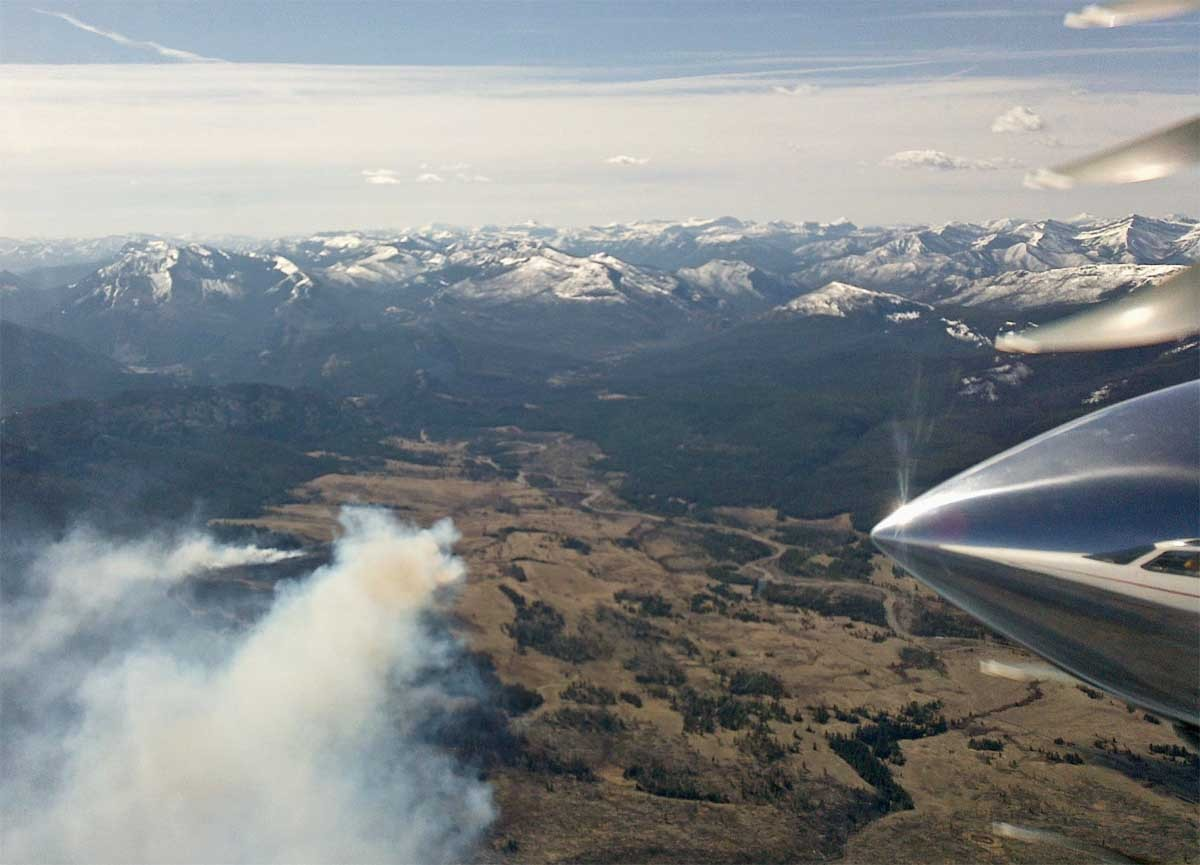 Early season fire in Bob Marshall Wilderness Area