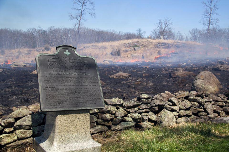 Prescribed fire at Gettysburg