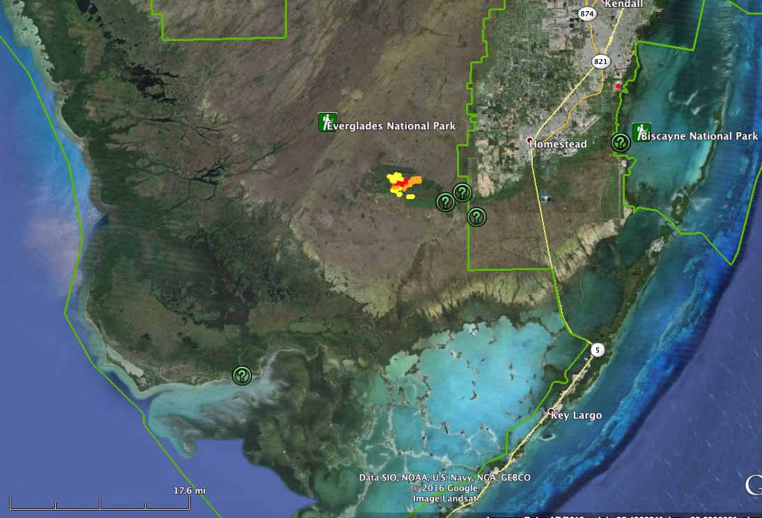 map Long Pine Key Fire