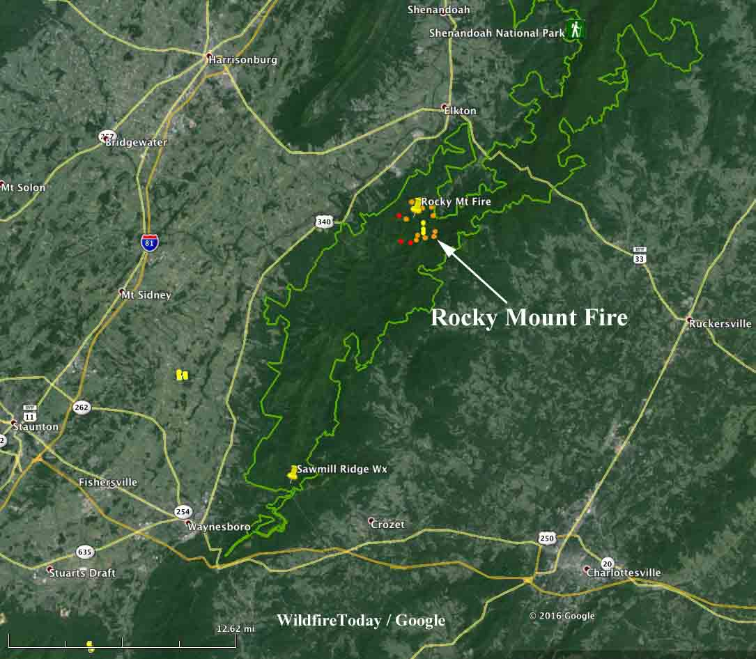 Rocky Mnt Fire in Shenandoah NP Wildfire Today