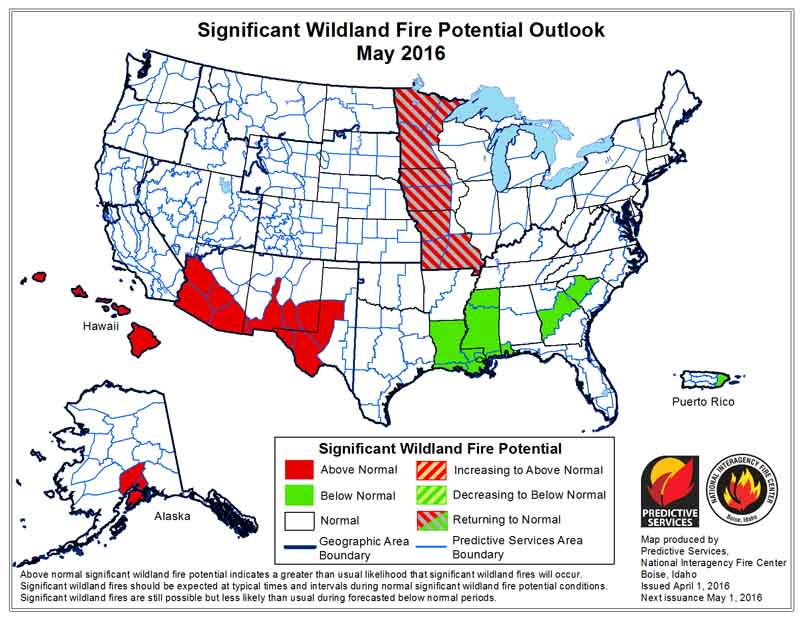 wildfire potential May 2016