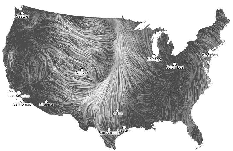Wind map, April 5, 2016