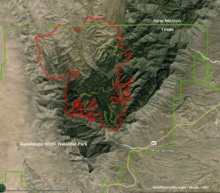 Coyote Fire map