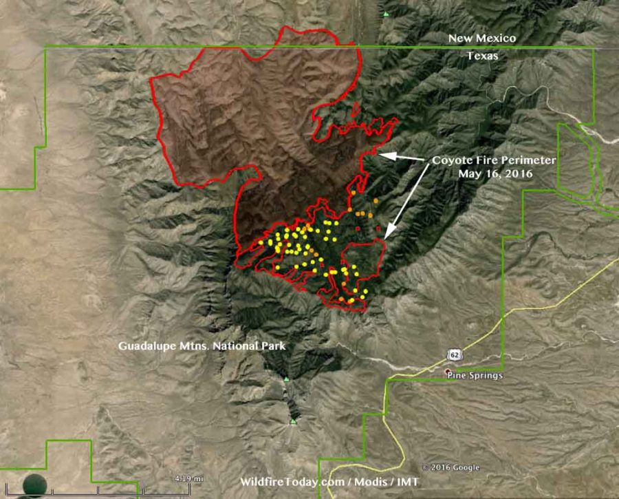 map coyote fire