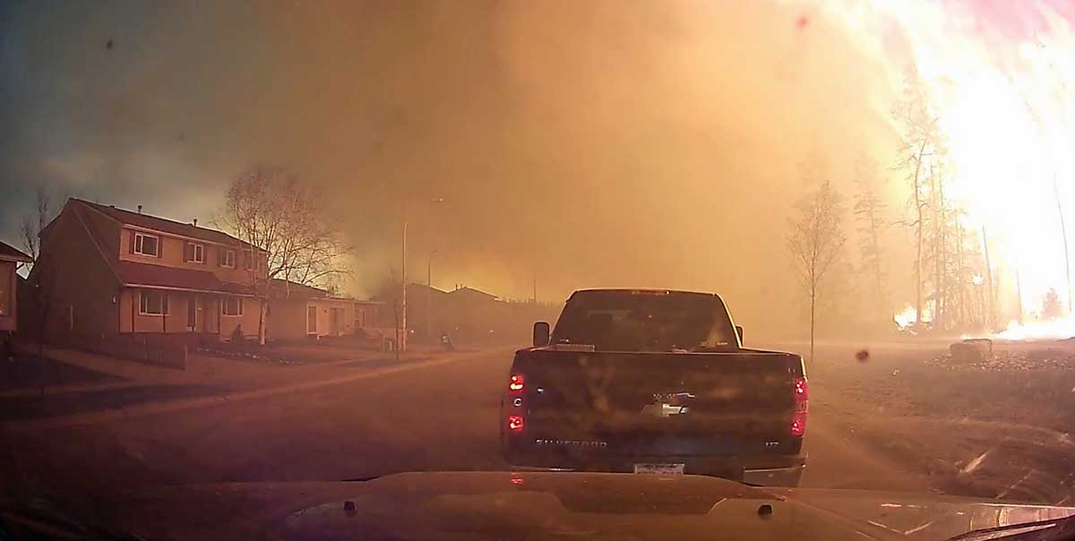 Evacuation dash cam