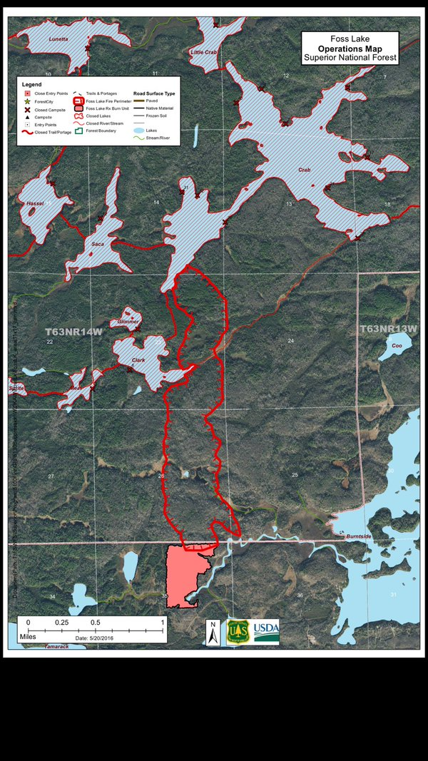 Minnesota Wildfire Today - Us forest fire map