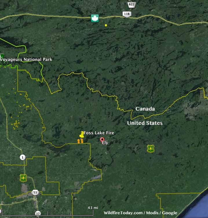 Map Foss Lake Fire