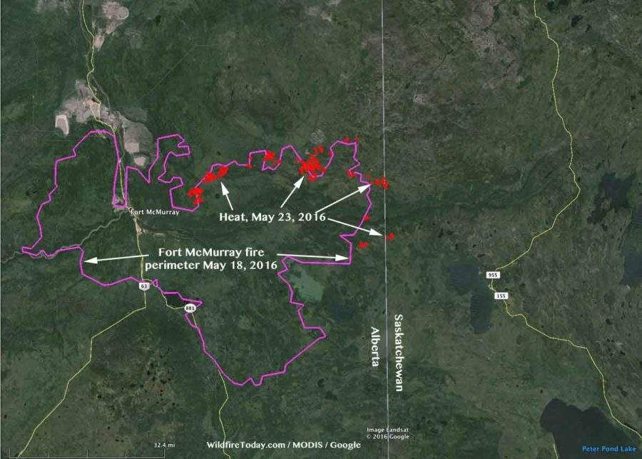 Map Ft McMurray Fire
