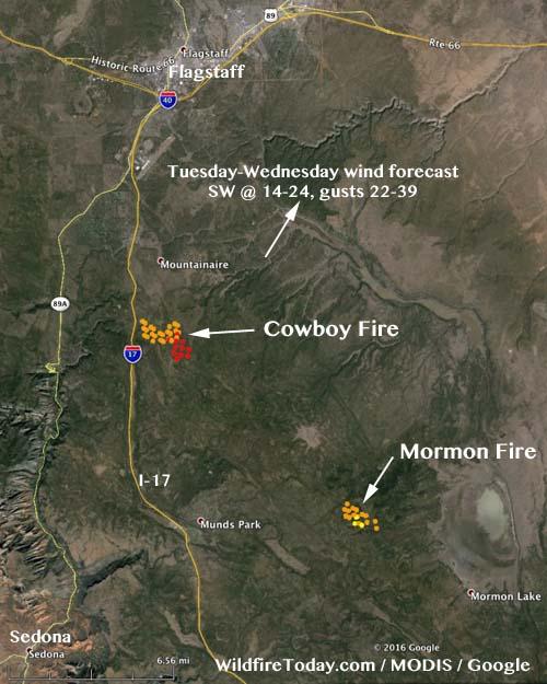 Map Cowboy Mormon Fires