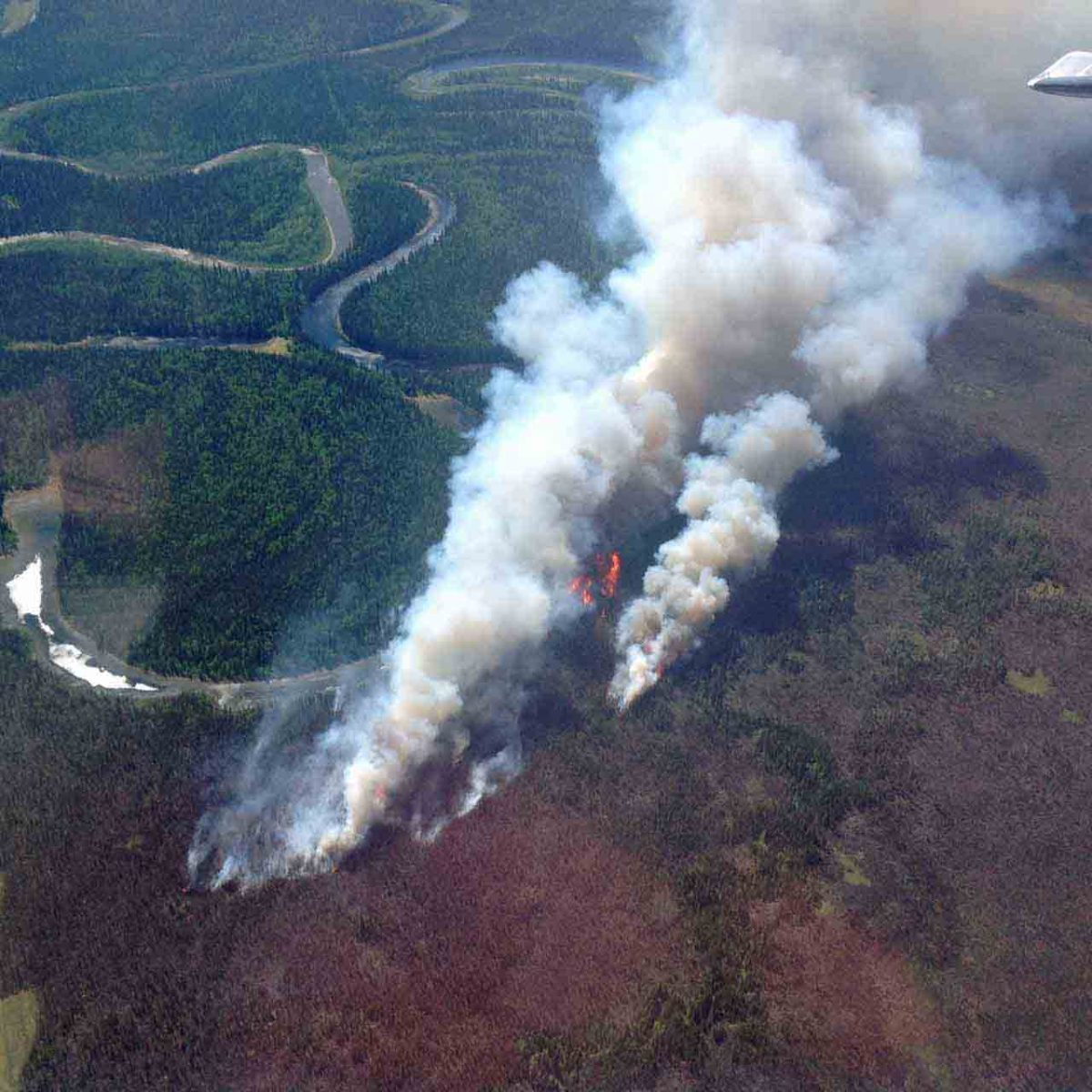 Medfra Fire survives Alaska winter, burns thousands of acres