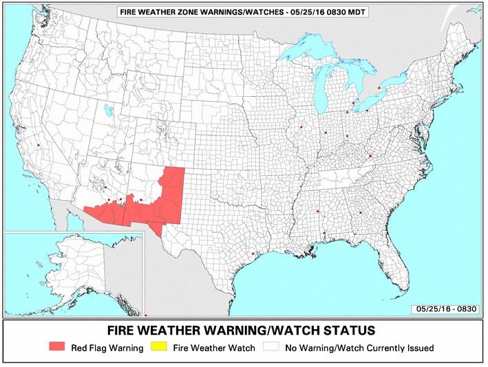 Red Flag Warnings 5-25-2016