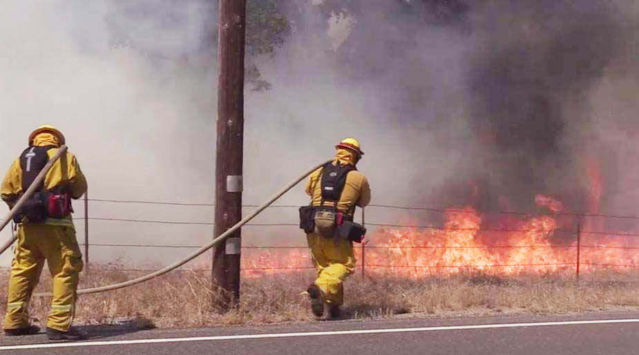 Border Fire firefighters