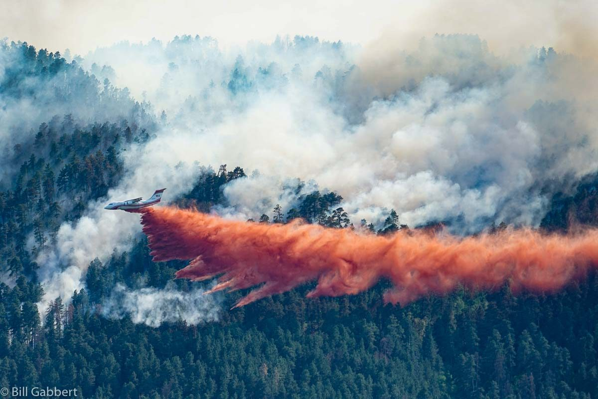 Crow Peak Fire air tanker