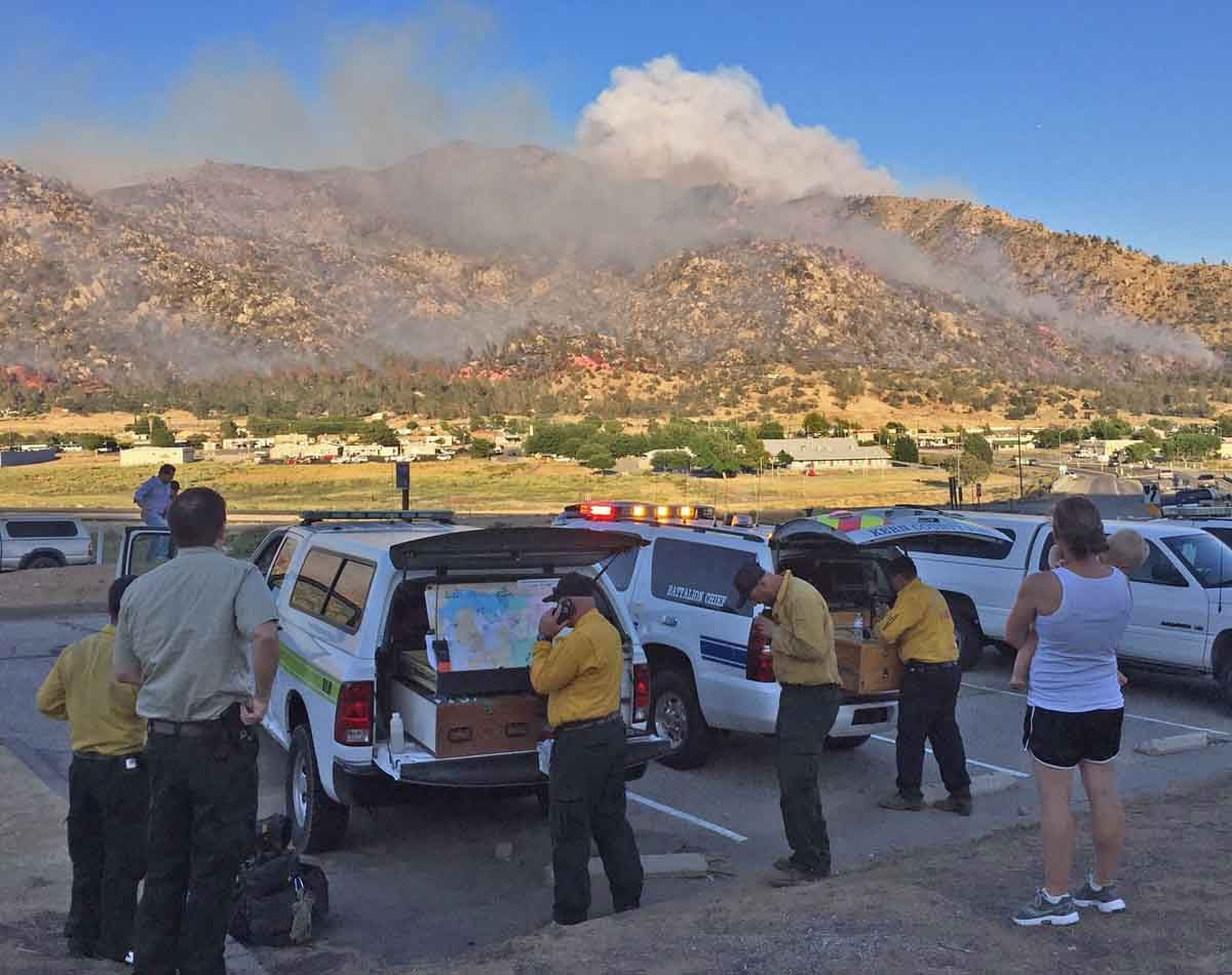California: scores of homes burn in Erskine Fire