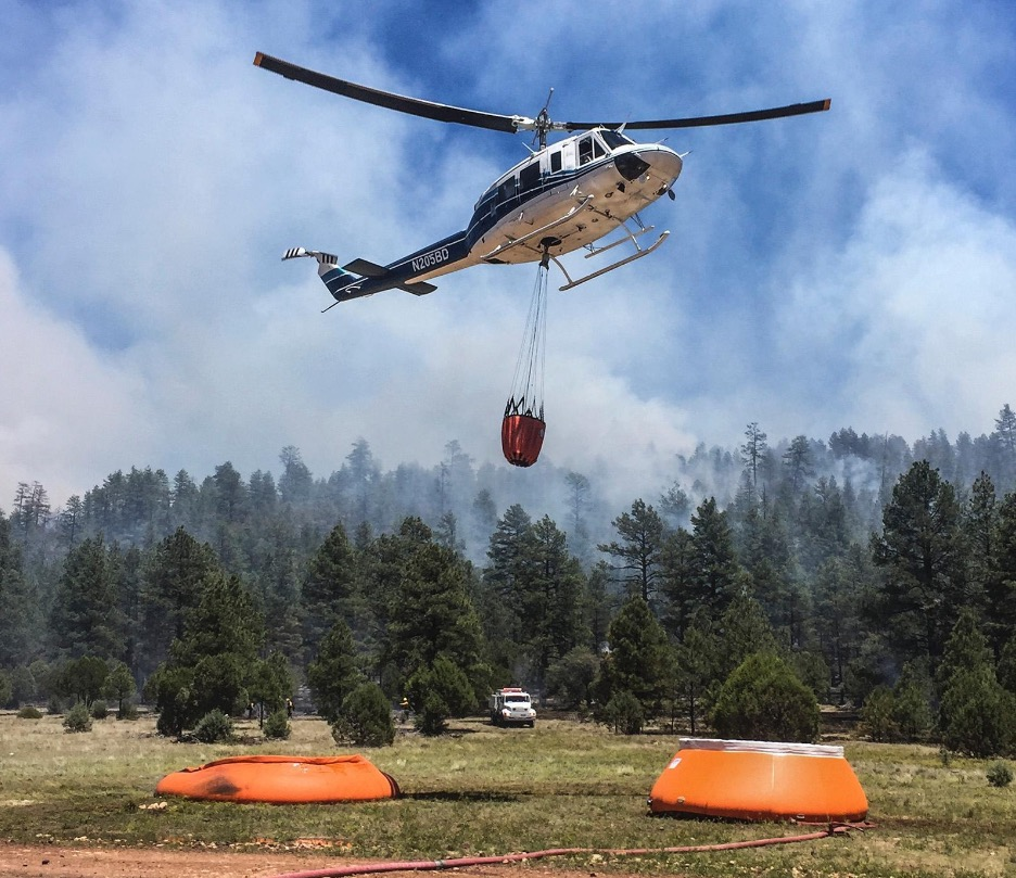 cedar fire helicopter