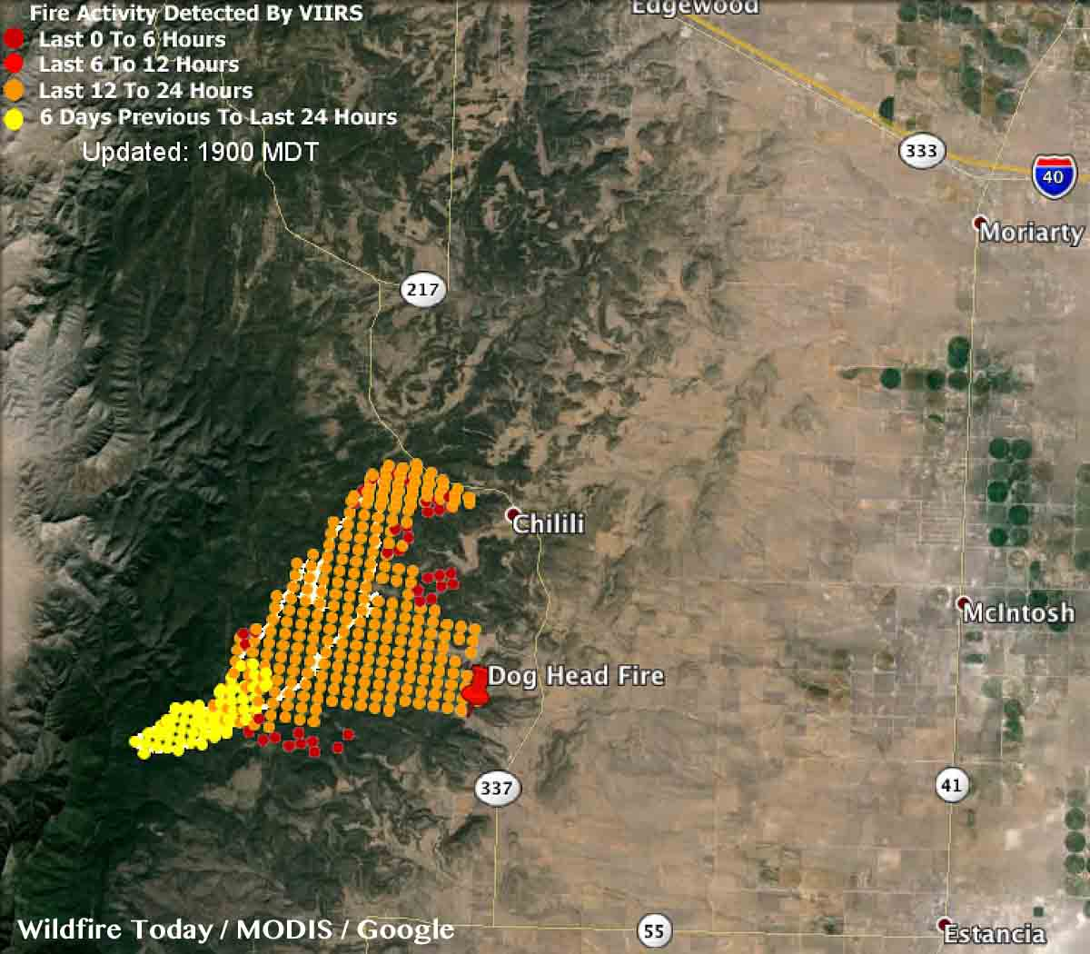Map Dog Head Fire 155 pm MDT June 16, 2016   Wildfire Today